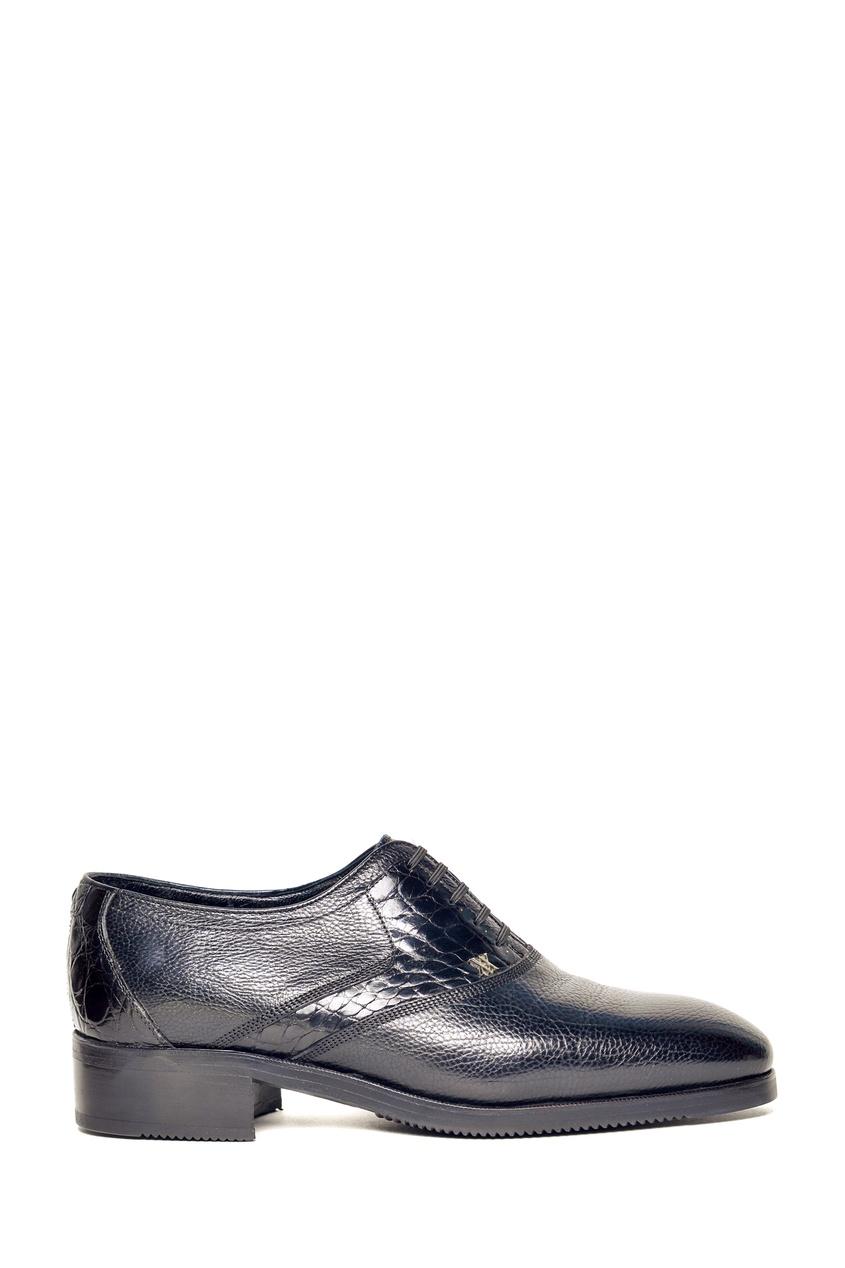 Черные комбинированные туфли на меху Artioli 1674152427 черный фото