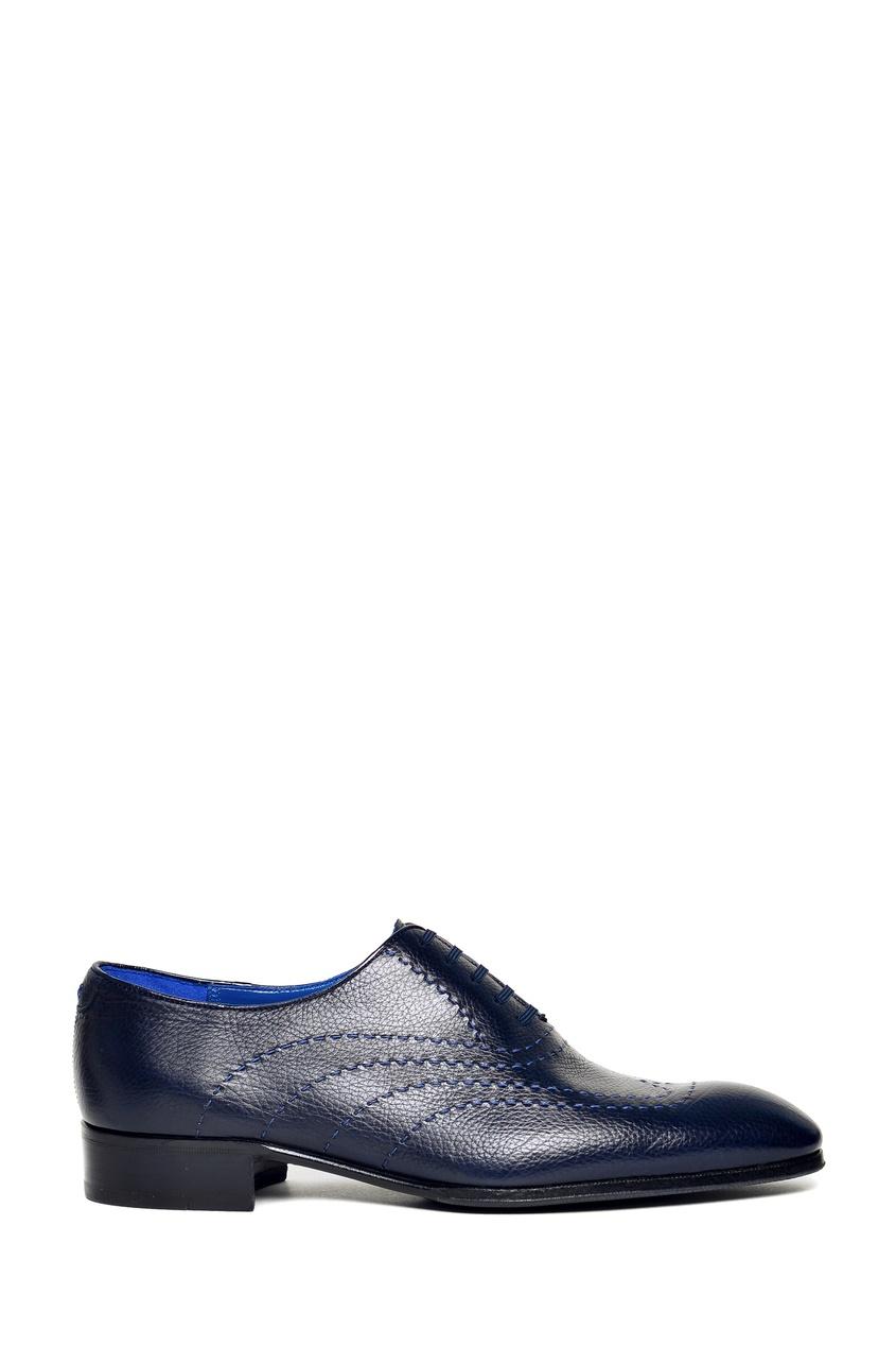 Синие туфли с отделочной строчкой Artioli 1674152401 синий фото