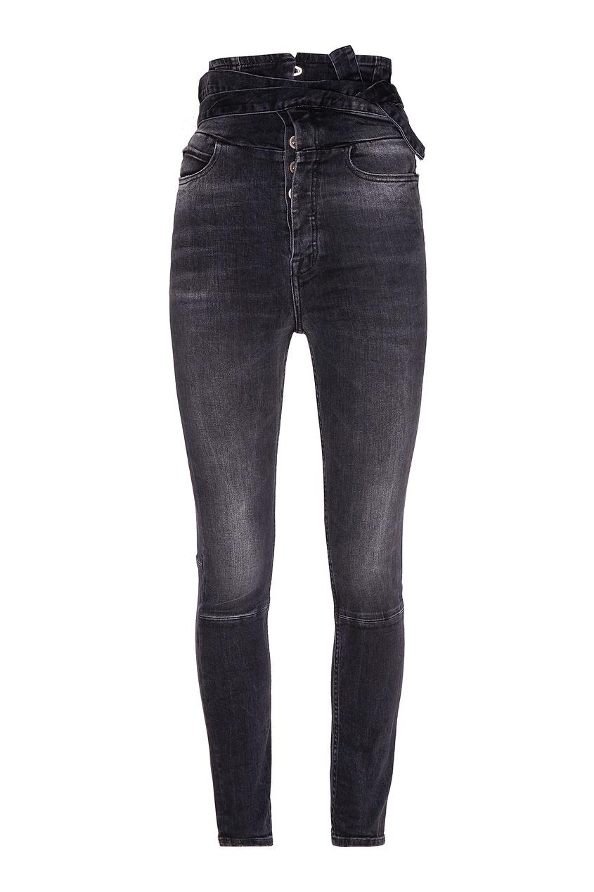 Фото - Черные джинсы-скинни с экстравысокой посадкой от Unravel Project черного цвета