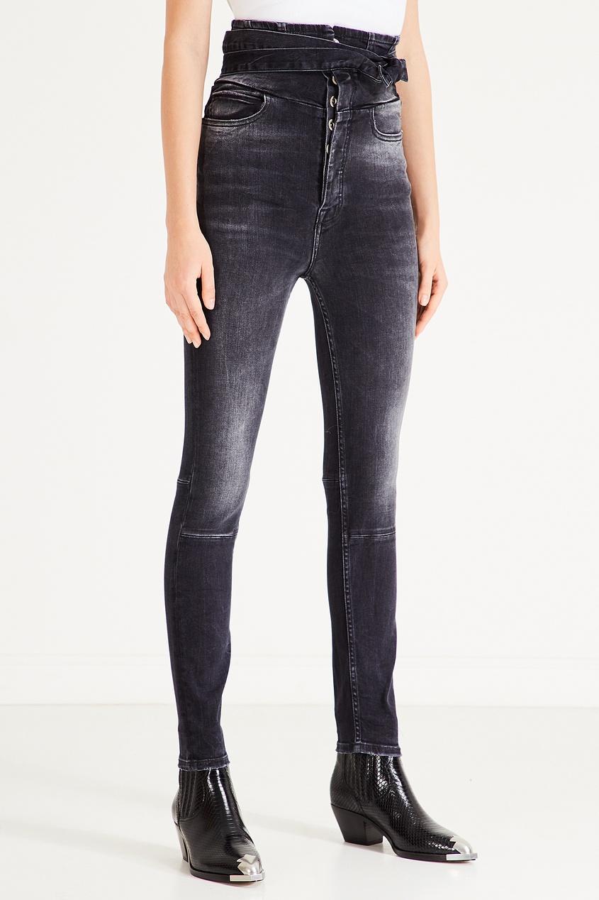 Фото 3 - Черные джинсы-скинни с экстравысокой посадкой от Unravel Project черного цвета