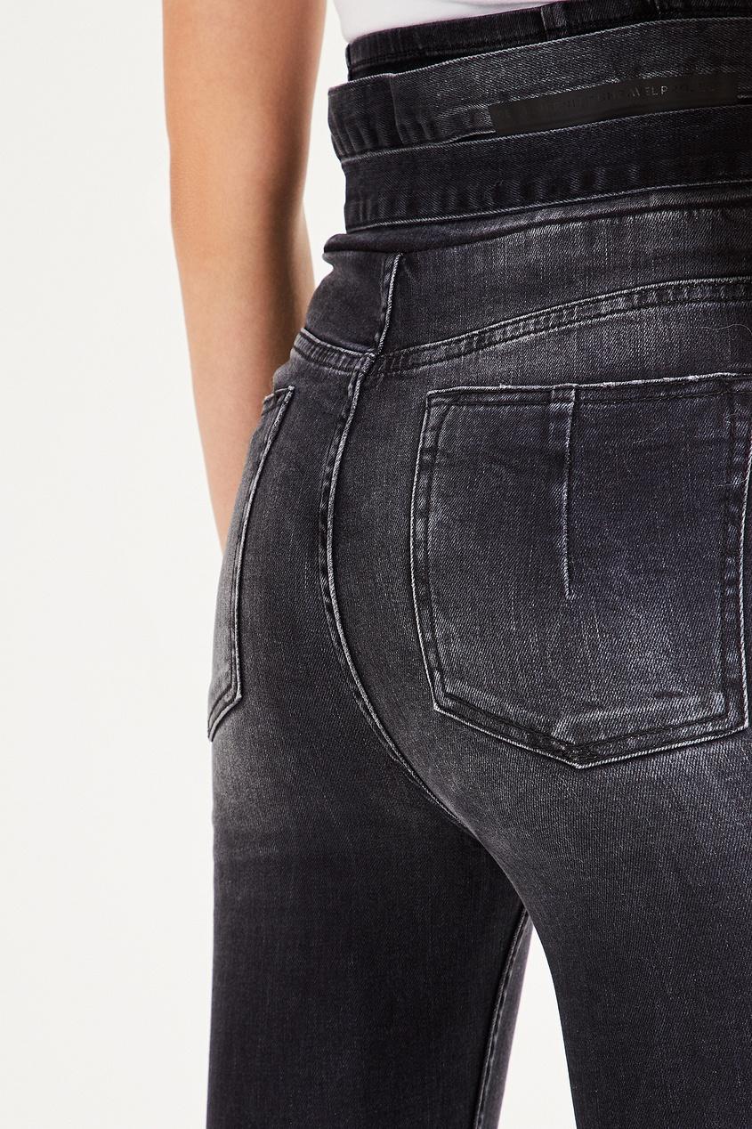 Фото 5 - Черные джинсы-скинни с экстравысокой посадкой от Unravel Project черного цвета