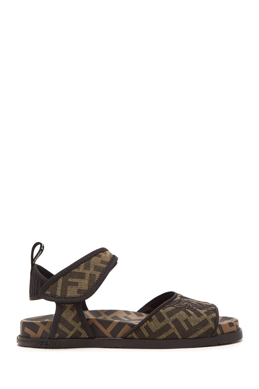 женские сандалии fendi, коричневые