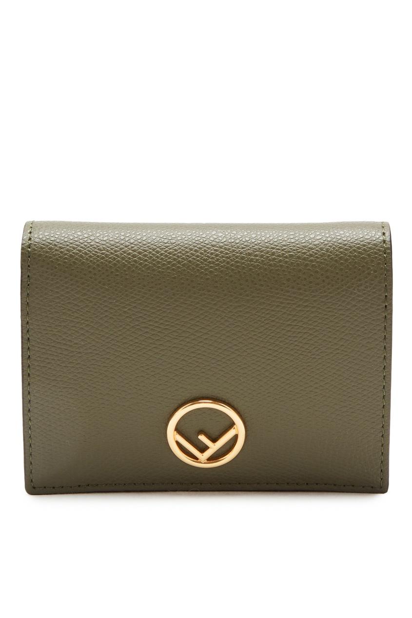 женский кошелёк fendi, зеленый