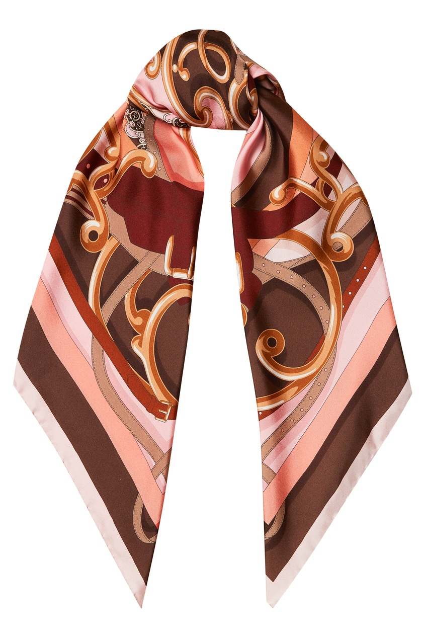 женский платок fendi, розовый