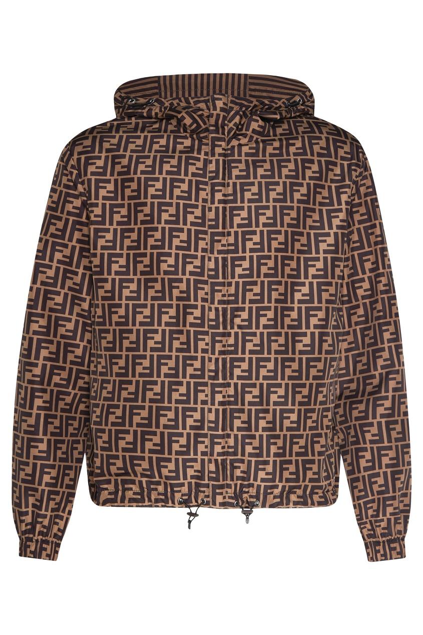 мужская куртка fendi, коричневая