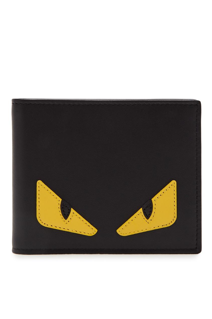 мужское портмоне fendi, черное