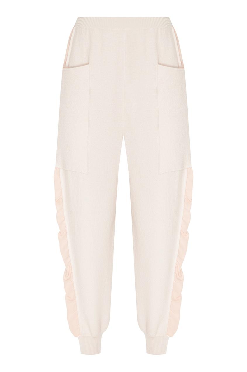 женские брюки stella mccartney, розовые