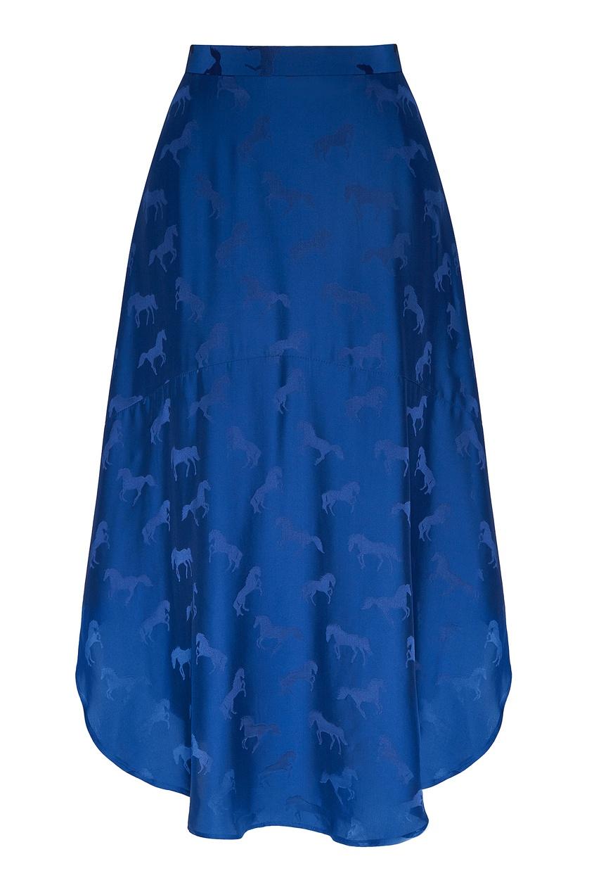 женская юбка stella mccartney, синяя