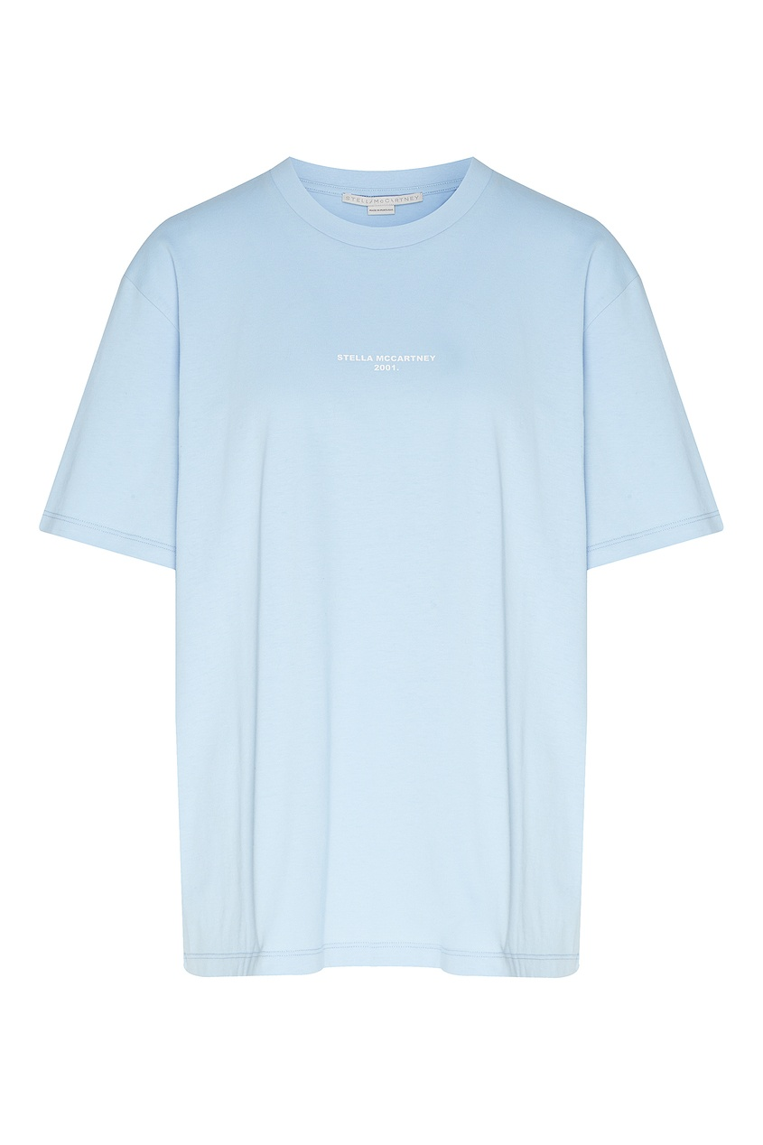 женская футболка stella mccartney, голубая