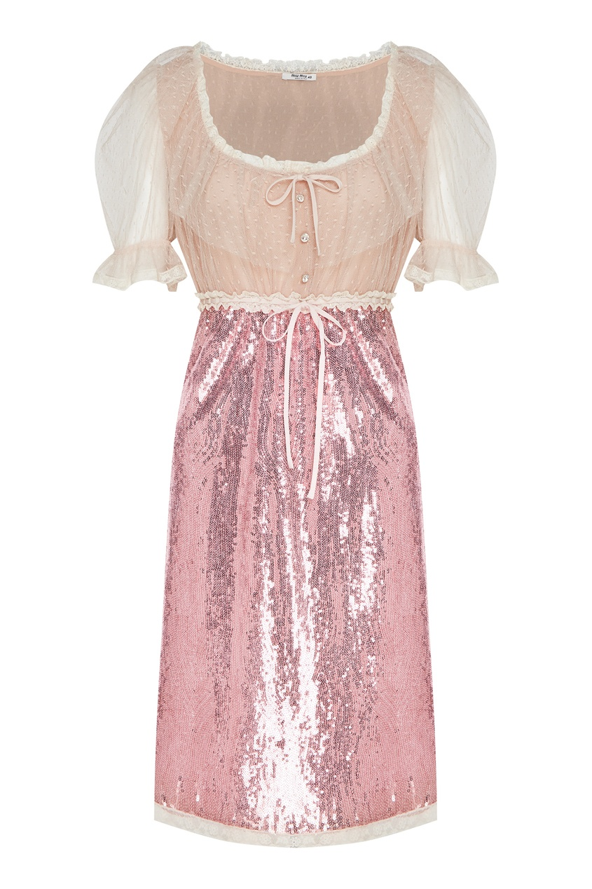 женское платье miu miu, розовое