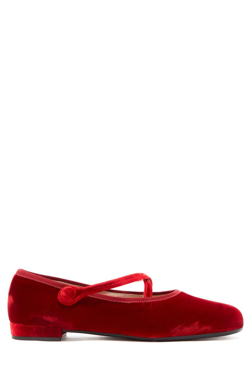 женские балетки miu miu, красные