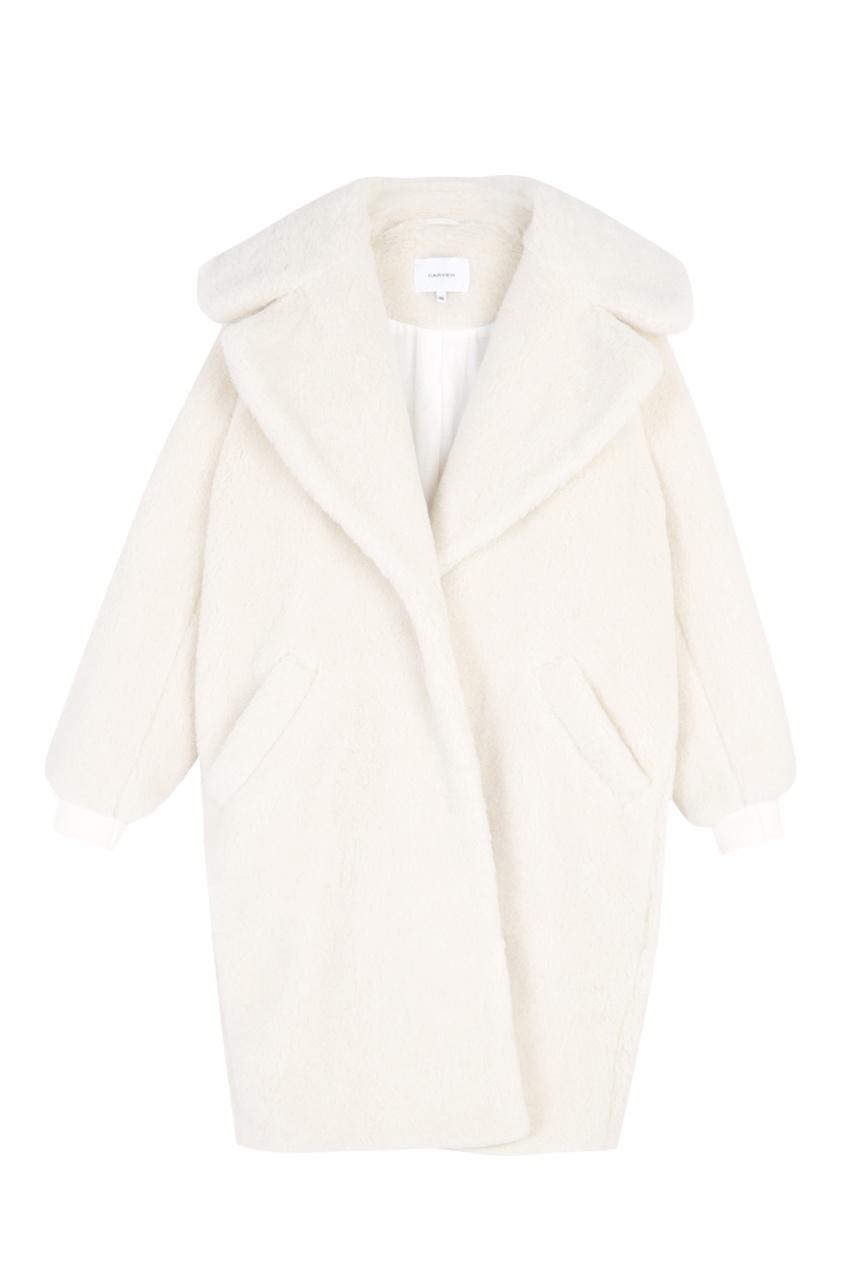 Пальто из меха альпака