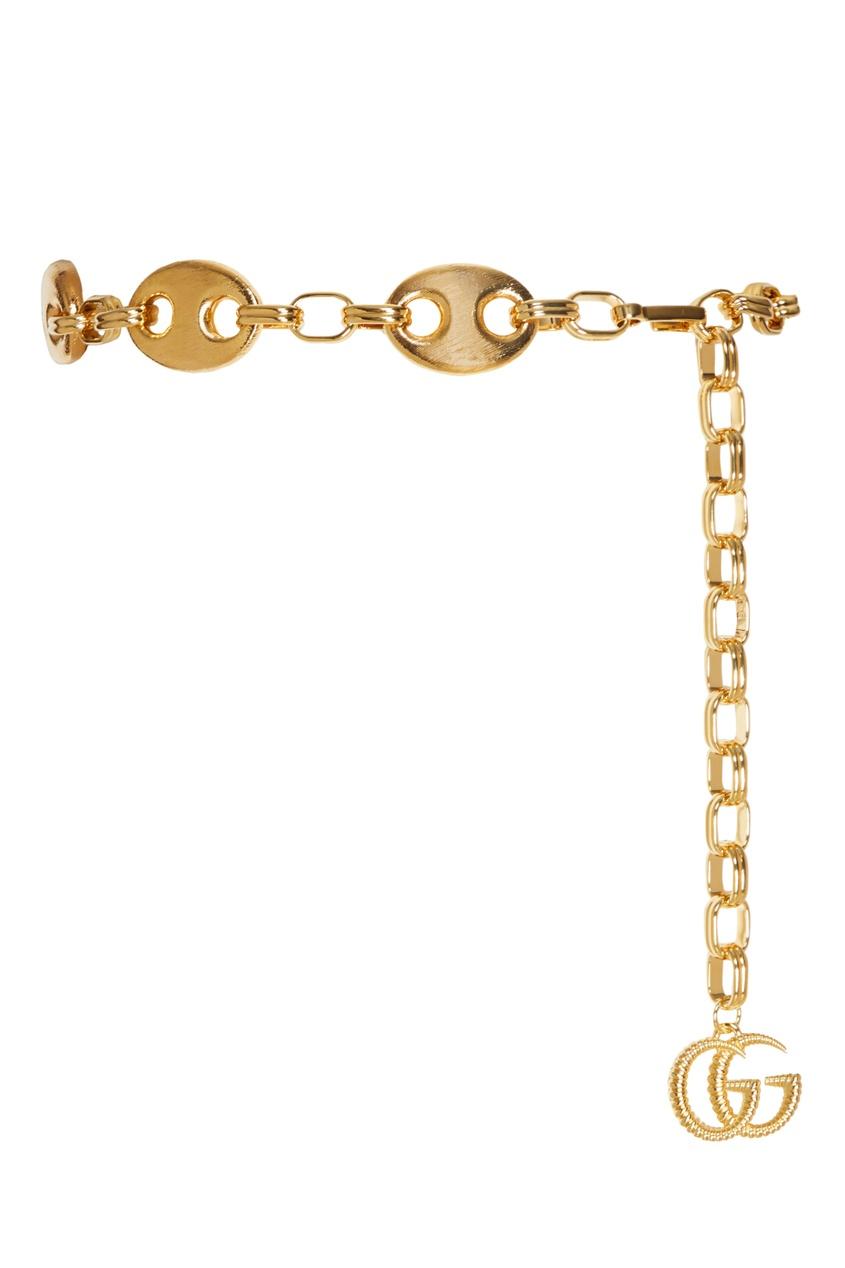 Золотистый пояс-цепь Marina Gucci