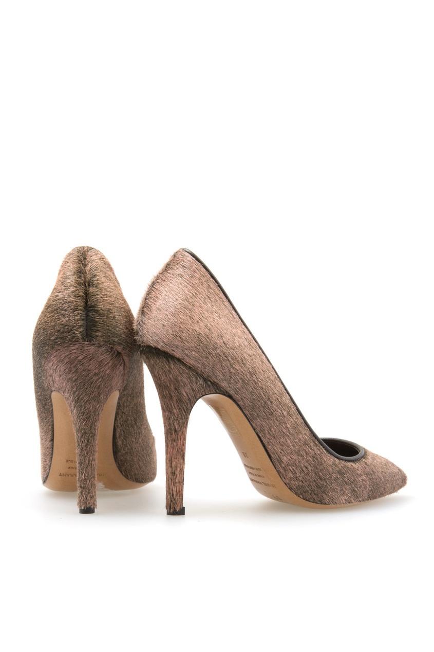 Isabel Marant Кожаные туфли с мехом пони