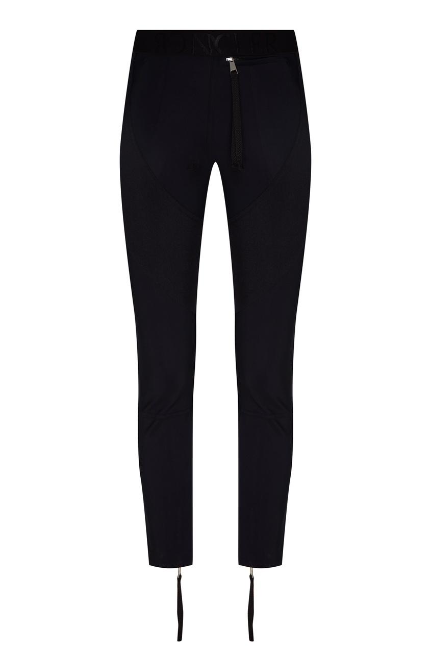 Фото - Спортивные брюки с эластичным поясом от Moncler черного цвета