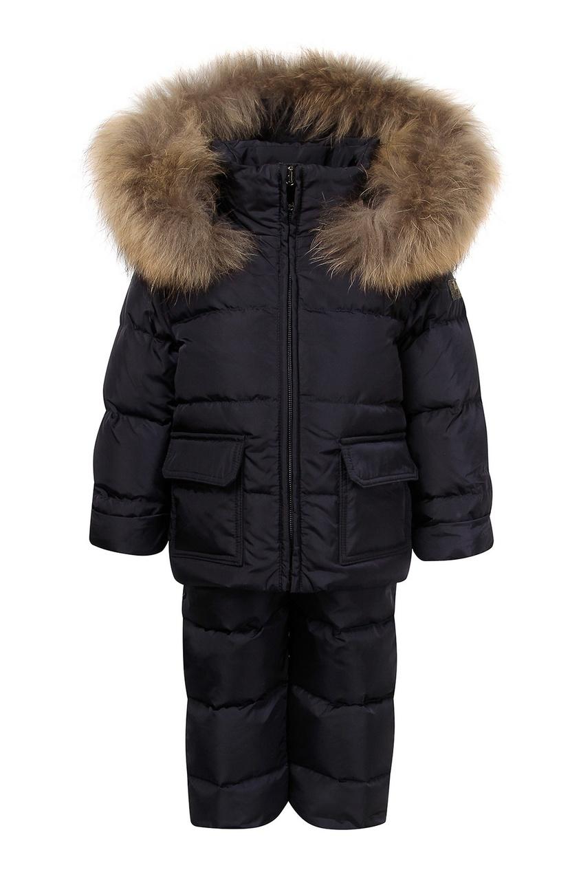 Детский зимний костюм с мехом IL Gufo