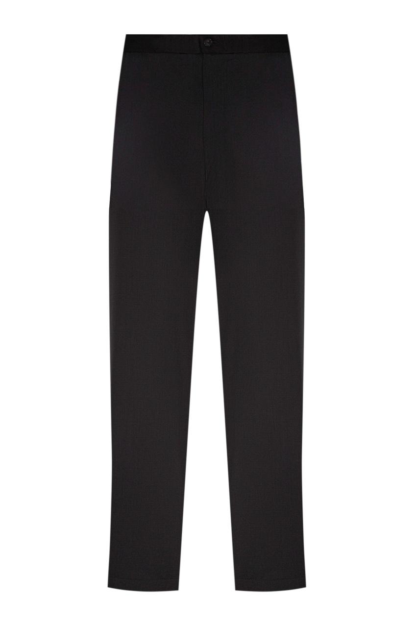 Черные шерстяные брюки от Emporio Armani