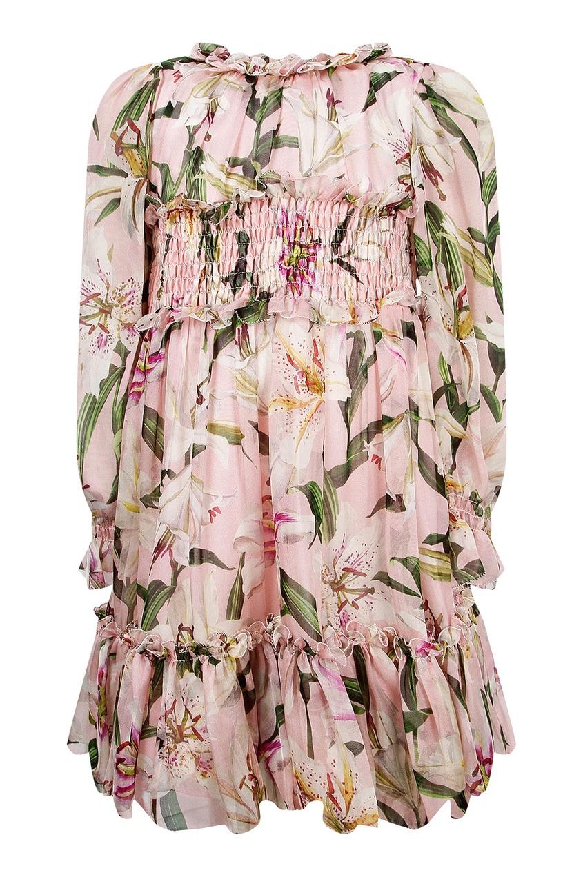 Комплект с цветочным узором на девочку Dolce&Gabbana Children