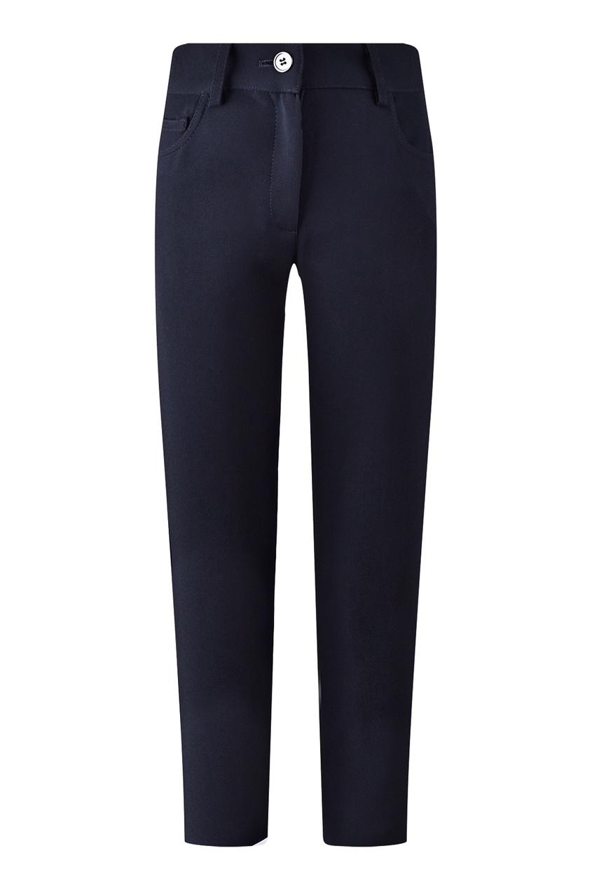 Прямые синие брюки