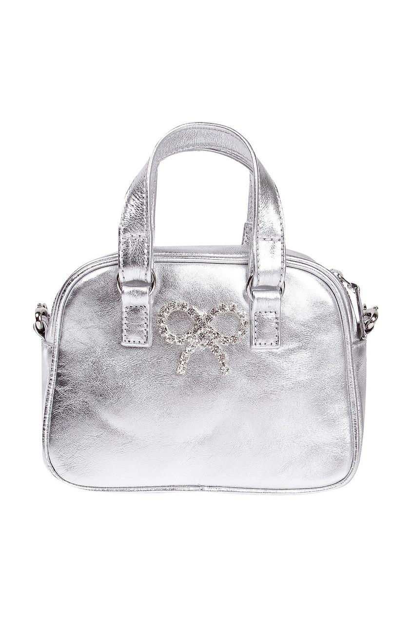 Серебристая сумочка с цепочкой SIMONETTA MINI