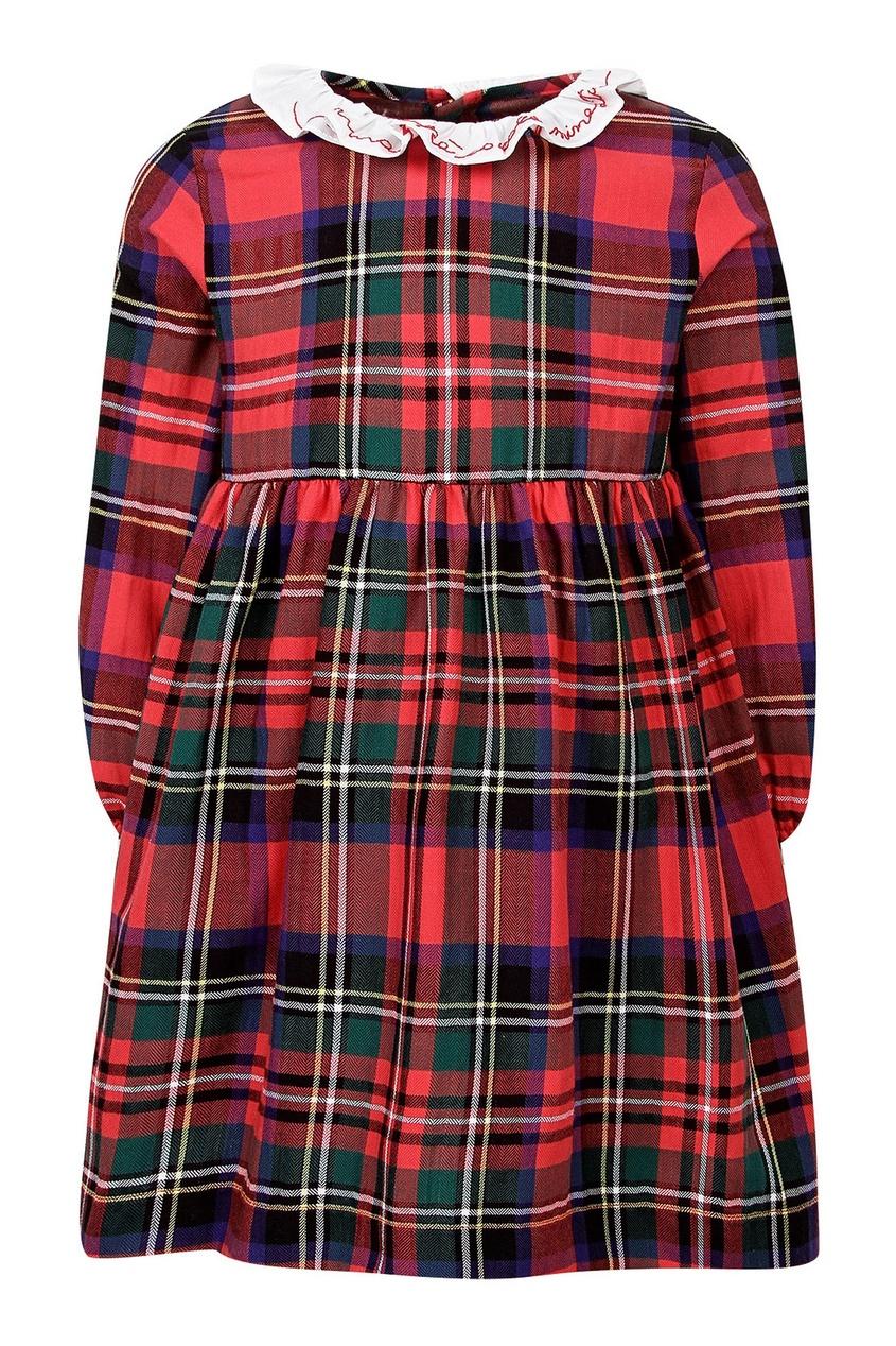 Клетчатое платье на девочку от Il Gufo