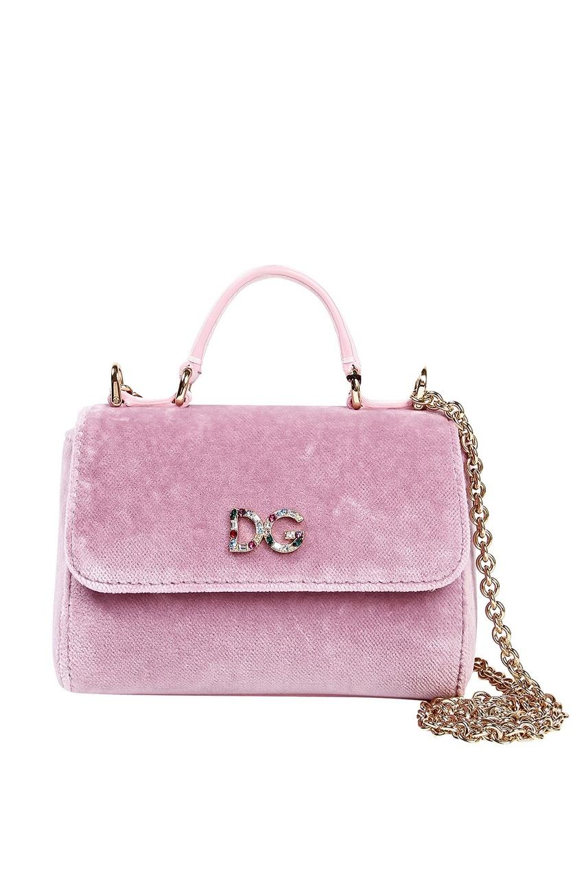 "Розовая сумочка ""Dolce&Gabbana"" с декором Dolce&Gabbana Children"