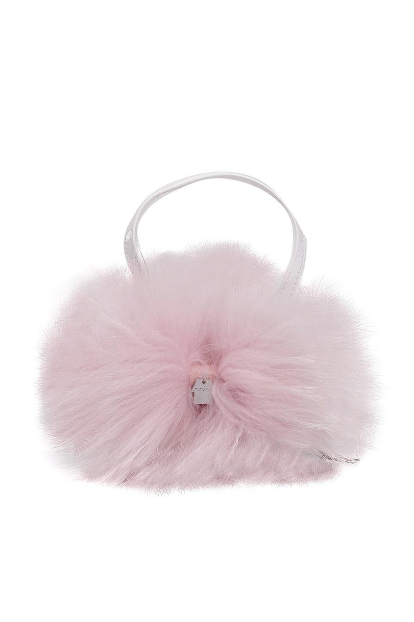 Маленькая сумка с розовым мехом SIMONETTA MINI
