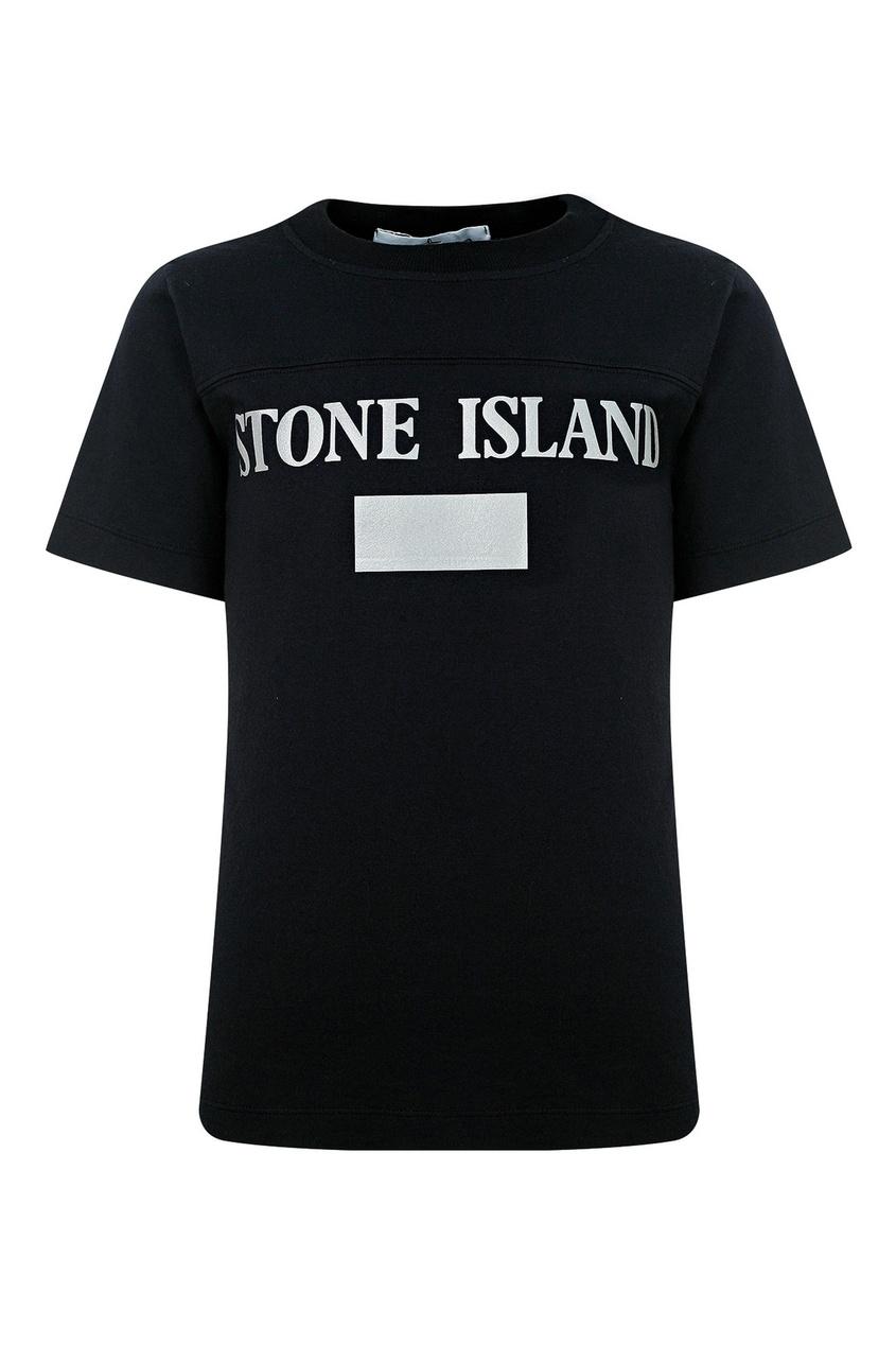 "Черная футболка ""Stone Island"" Stone Island Kids"