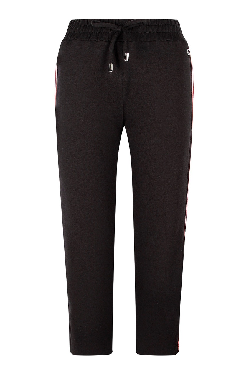 Черные спортивные брюки с лампасами от Ermanno Scervino