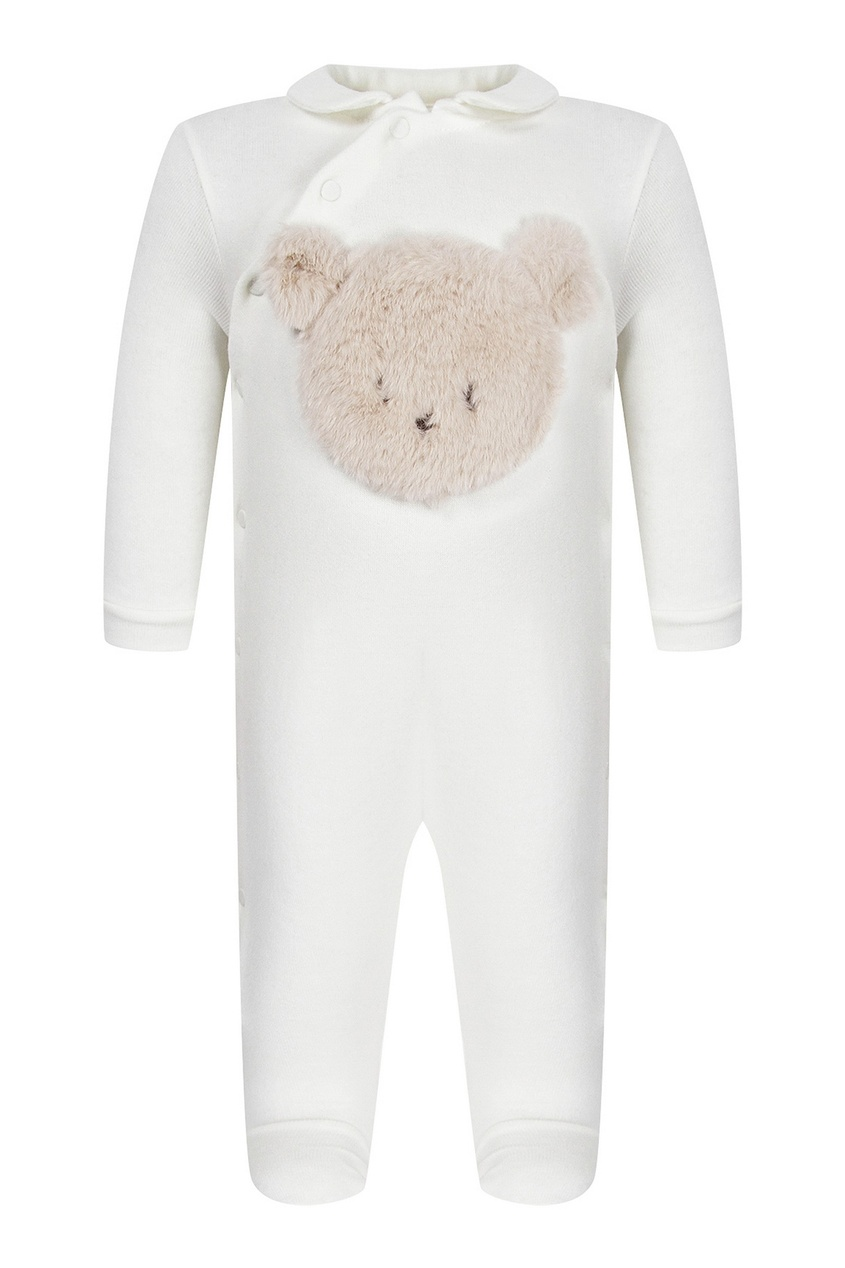 Белый комбинезон с медвежонком от Il Gufo