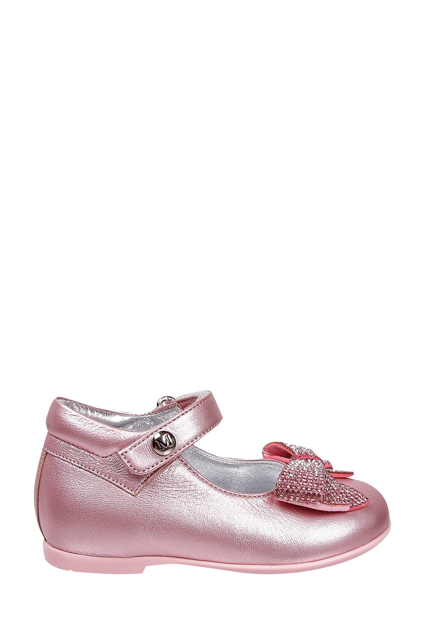 Кожаные розовые туфли