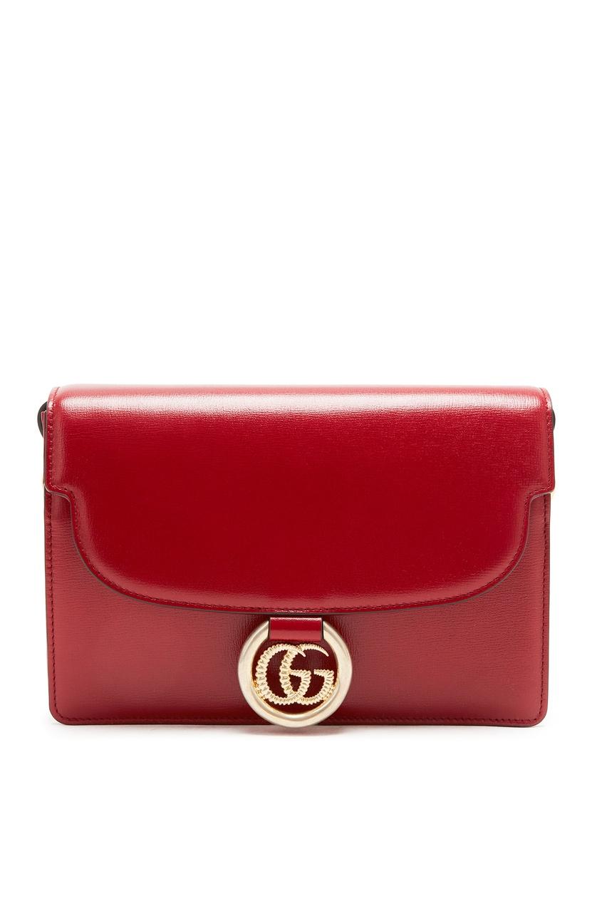 женская сумка gucci, красная