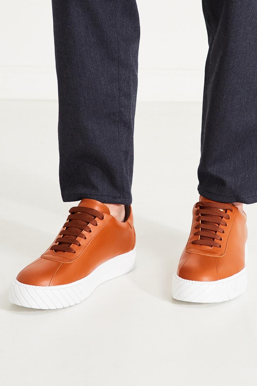 мужские кроссовки emporio armani, коричневые