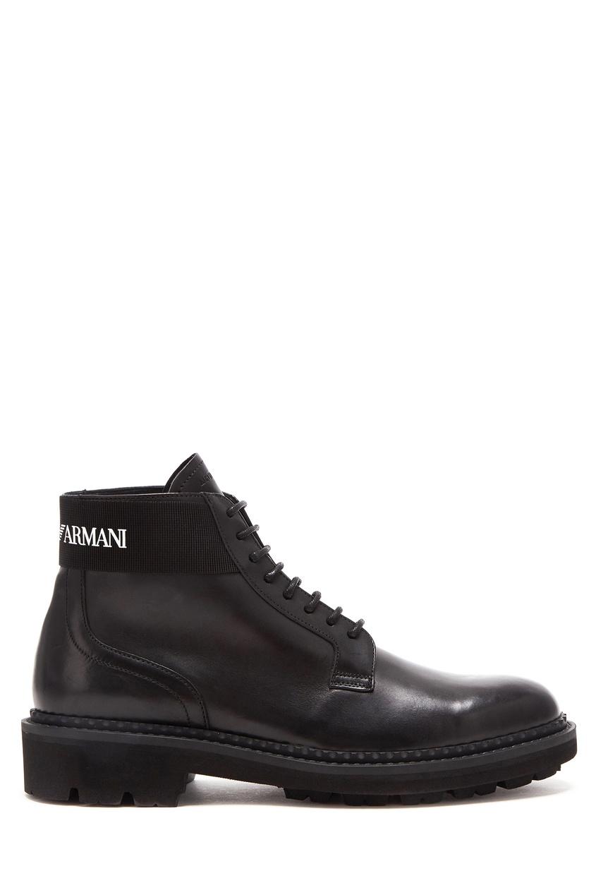 Купить со скидкой Черные ботинки на шнуровке