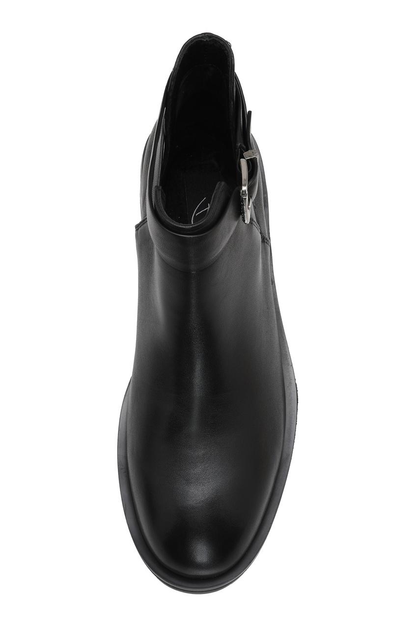 Фото 5 - Черные ботинки с ремешками на голенище от Portal черного цвета