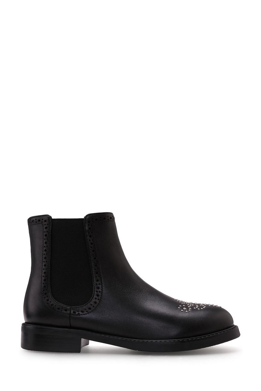 Черные ботинки с декором Portal