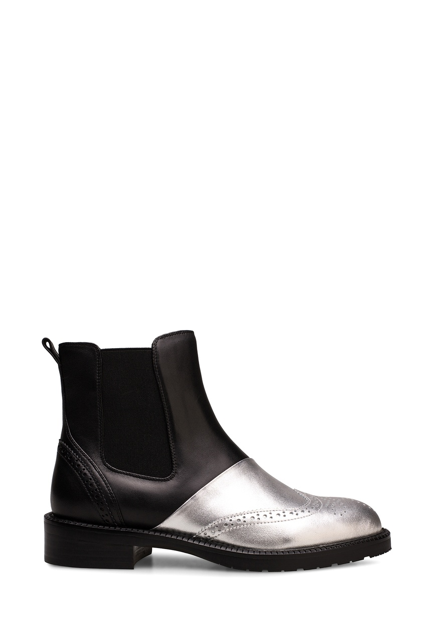 Черные ботинки с контрастным носом Portal