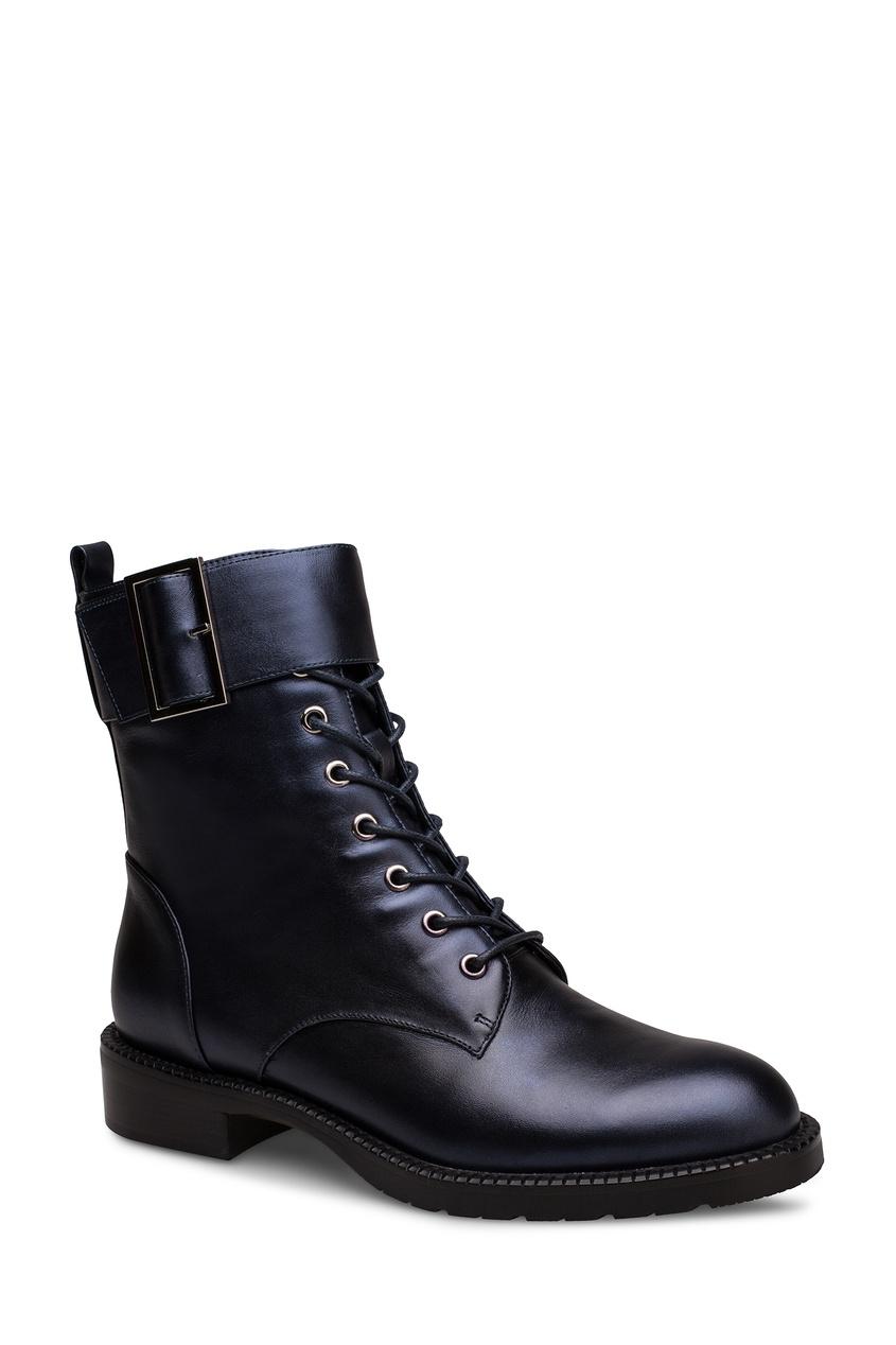 Фото 2 - Темно-синие ботинки с ремнем от Portal синего цвета