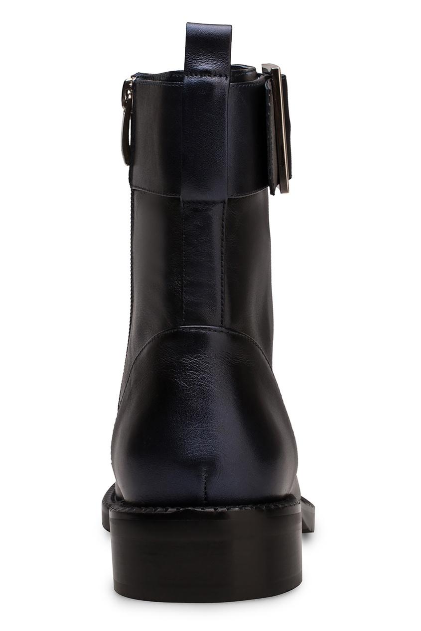 Фото 4 - Темно-синие ботинки с ремнем от Portal синего цвета