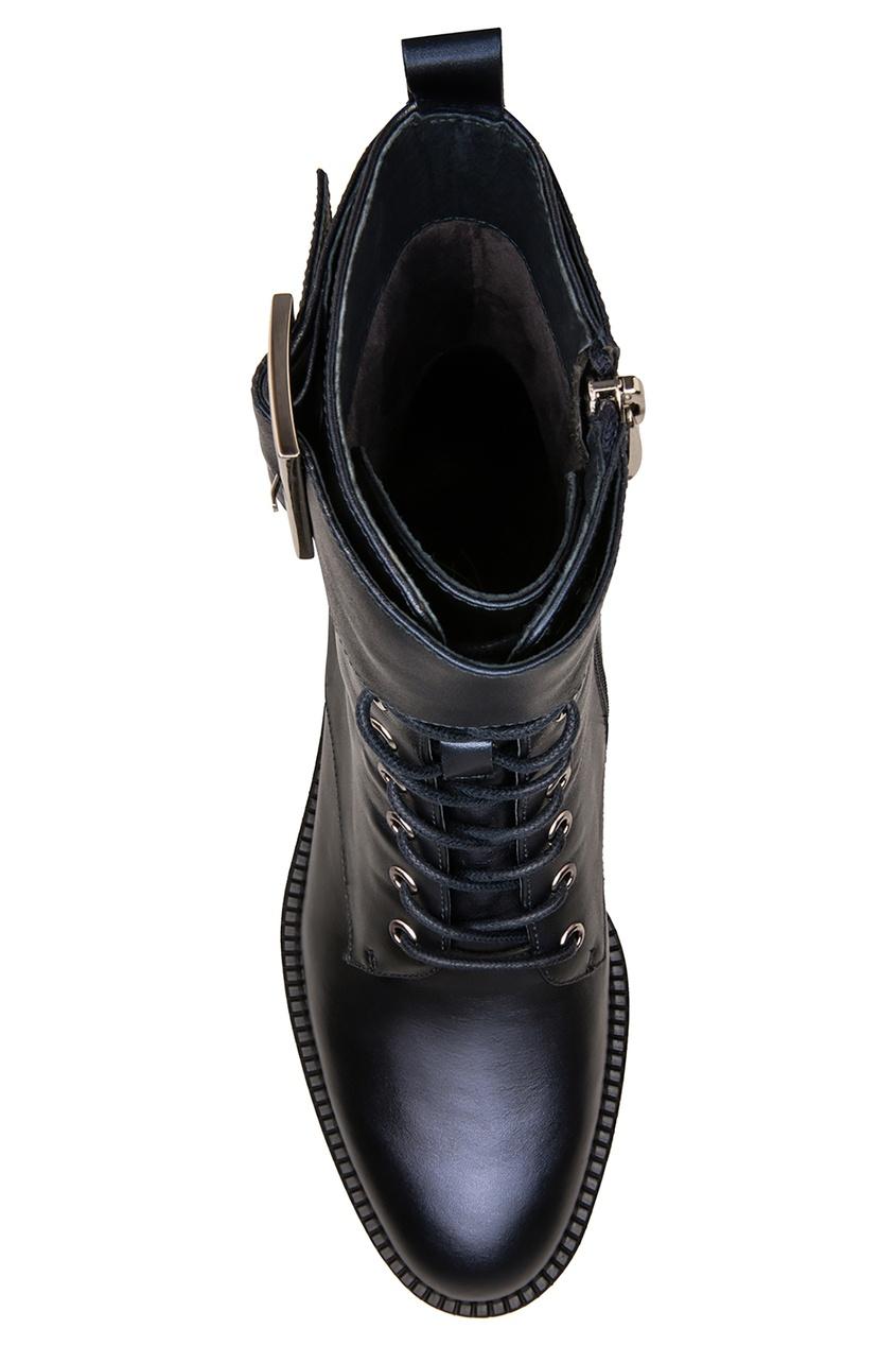 Фото 5 - Темно-синие ботинки с ремнем от Portal синего цвета