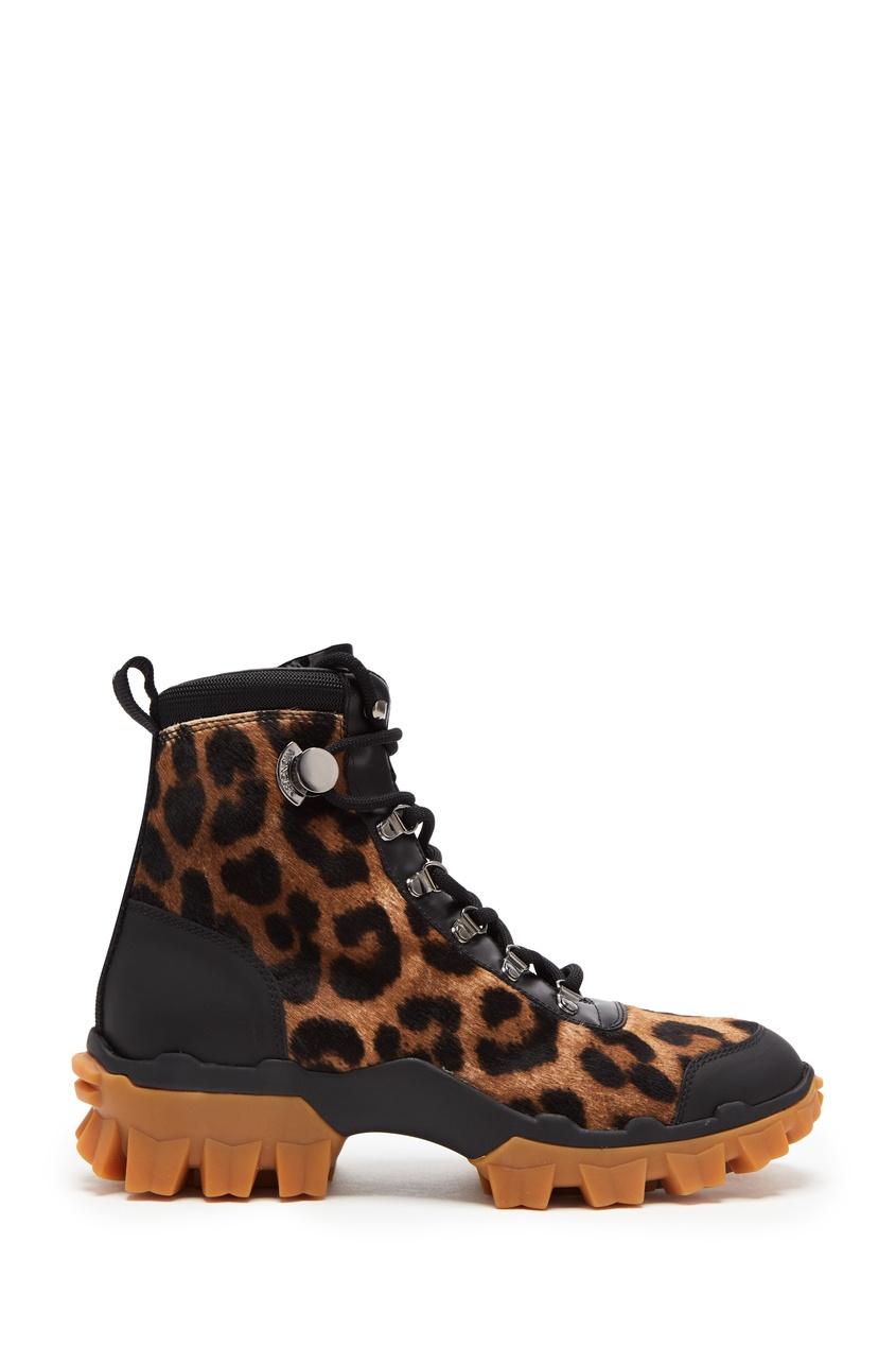 женские ботинки moncler, черные