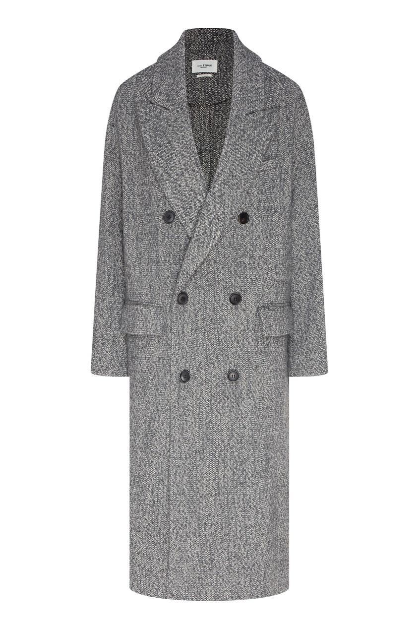 Двубортное пальто оверсайз Habra