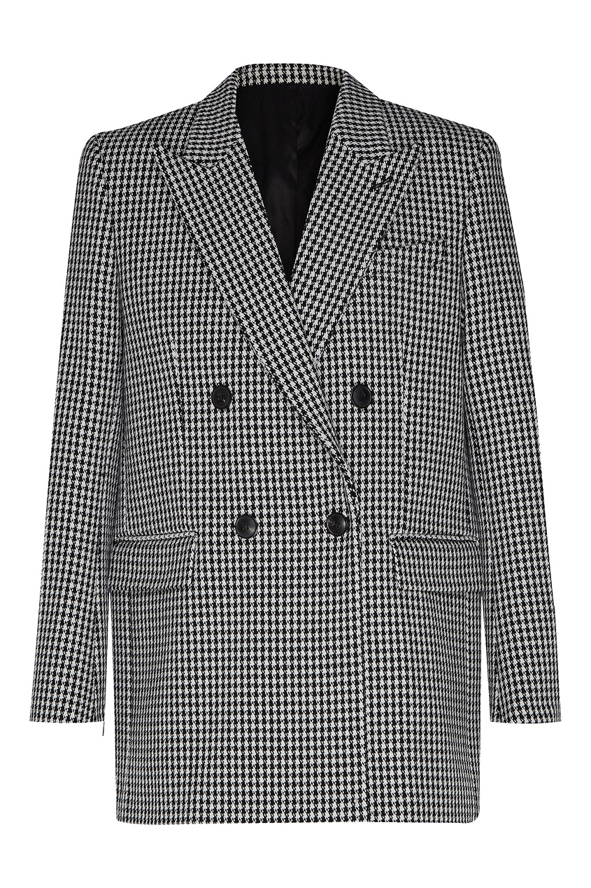 Купить со скидкой Двубортный пиджак в клетку