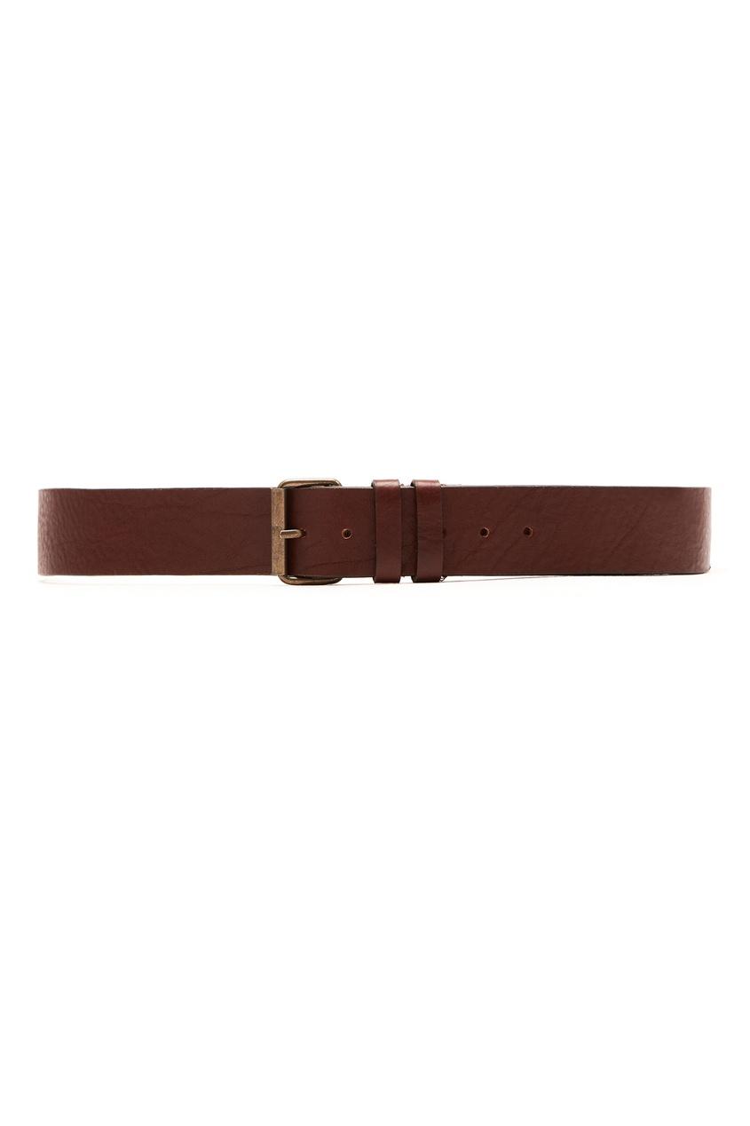 Кожаный ремень коричневого цвета Ami