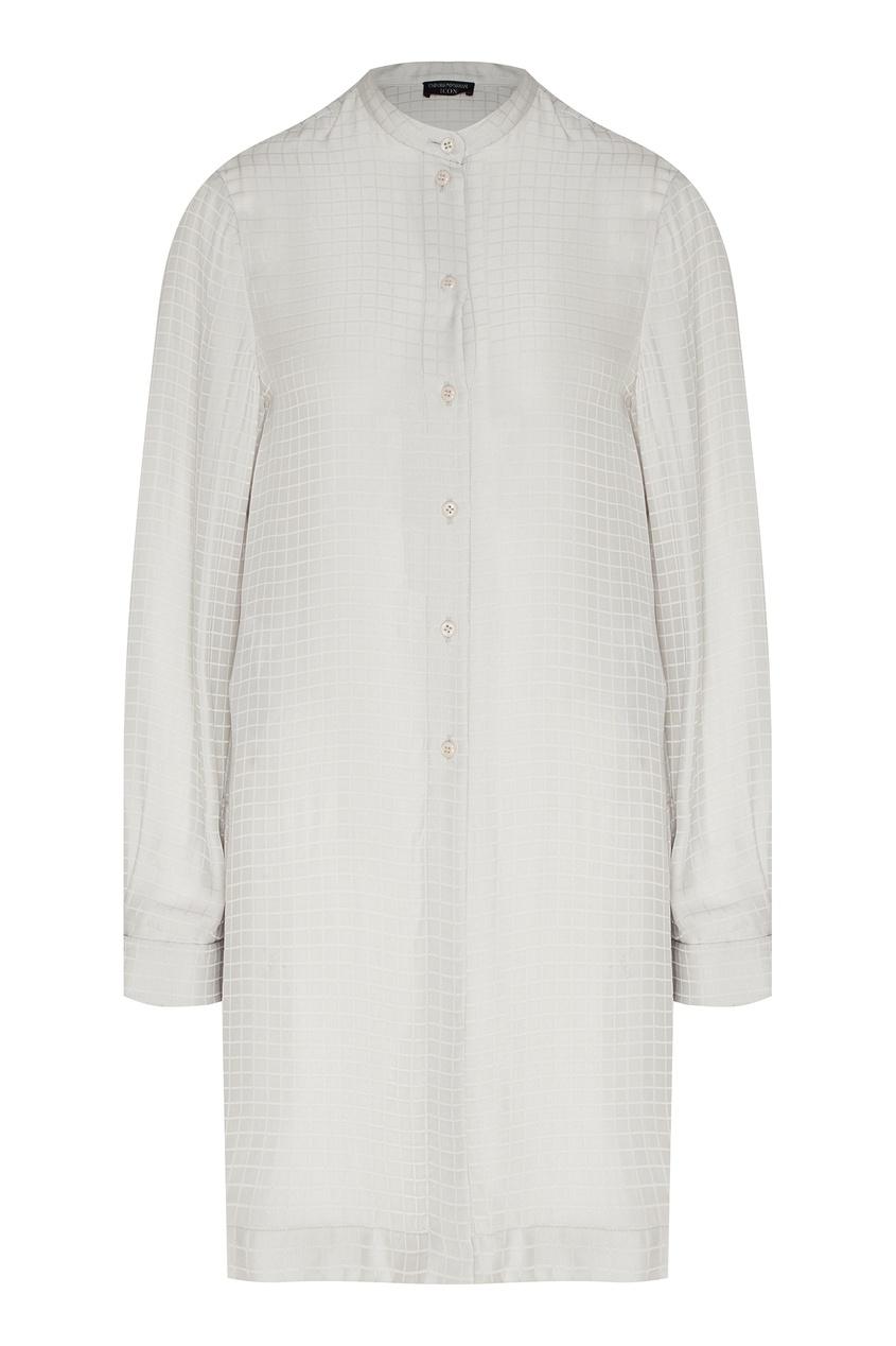 Рубашка с воротником-стойкой от Emporio Armani