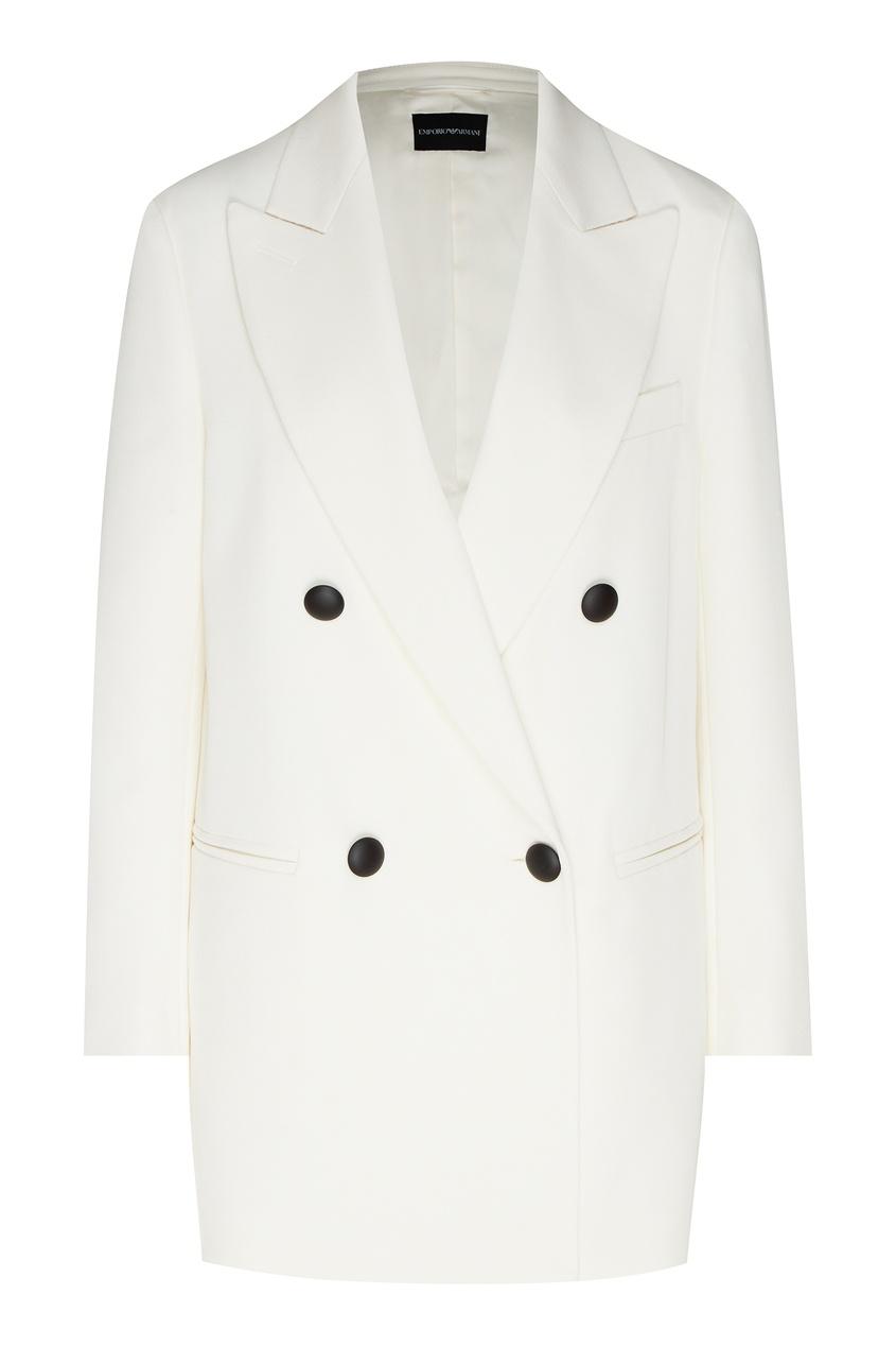 женский пиджак emporio armani, белый