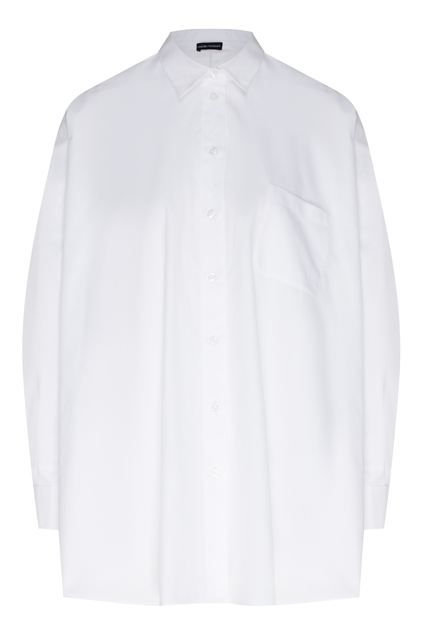 Белая рубашка с карманом от Emporio Armani