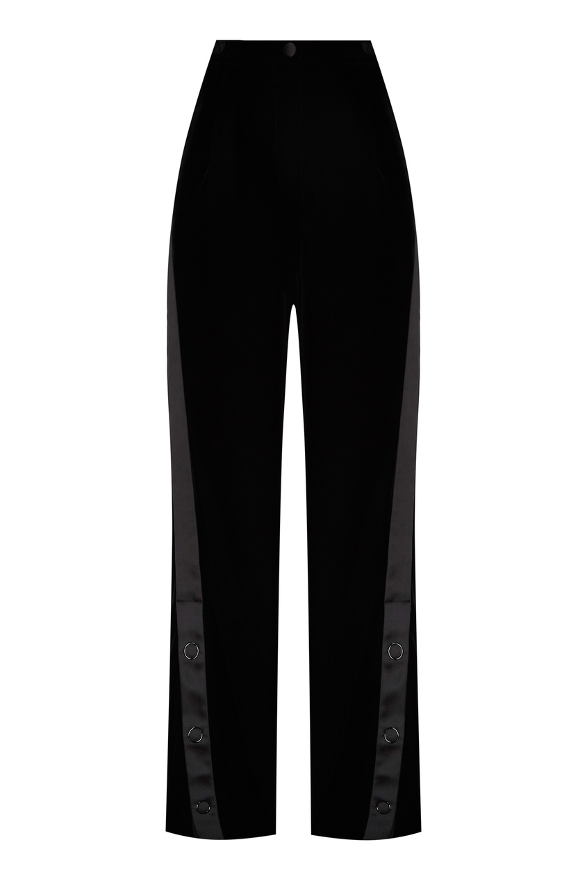 Бархатные брюки с лампасами от Emporio Armani