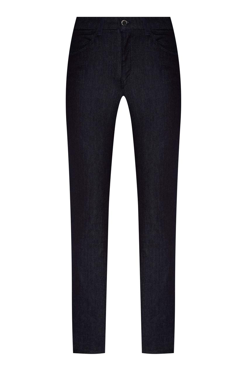 Синие зауженные джинсы от Emporio Armani