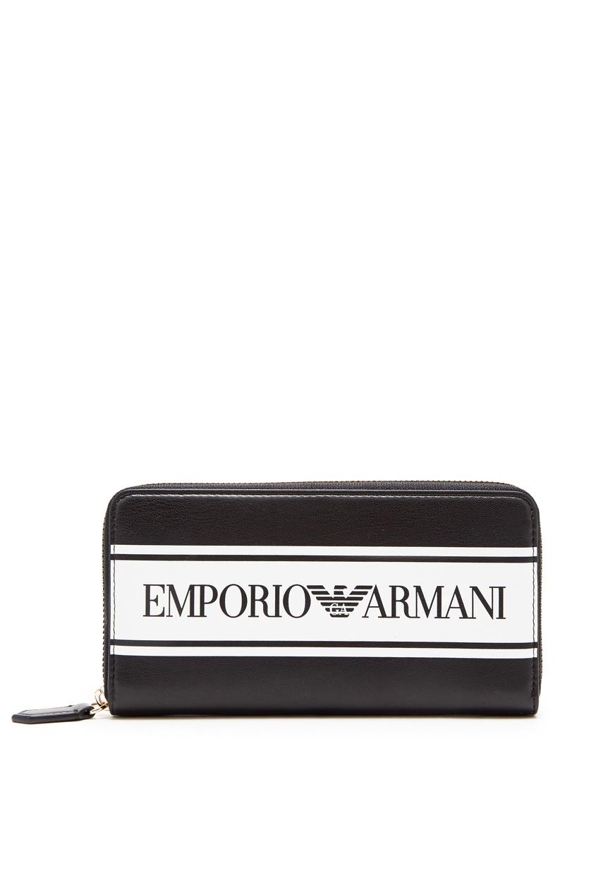 Крупный кошелек с логотипом от Emporio Armani